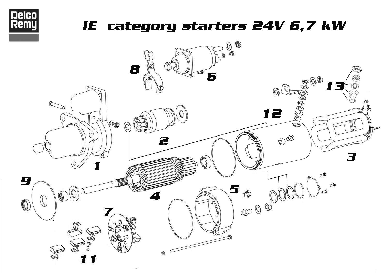 Starter Delco Remy 19070037 And Its Equivalences Wiring Diagram