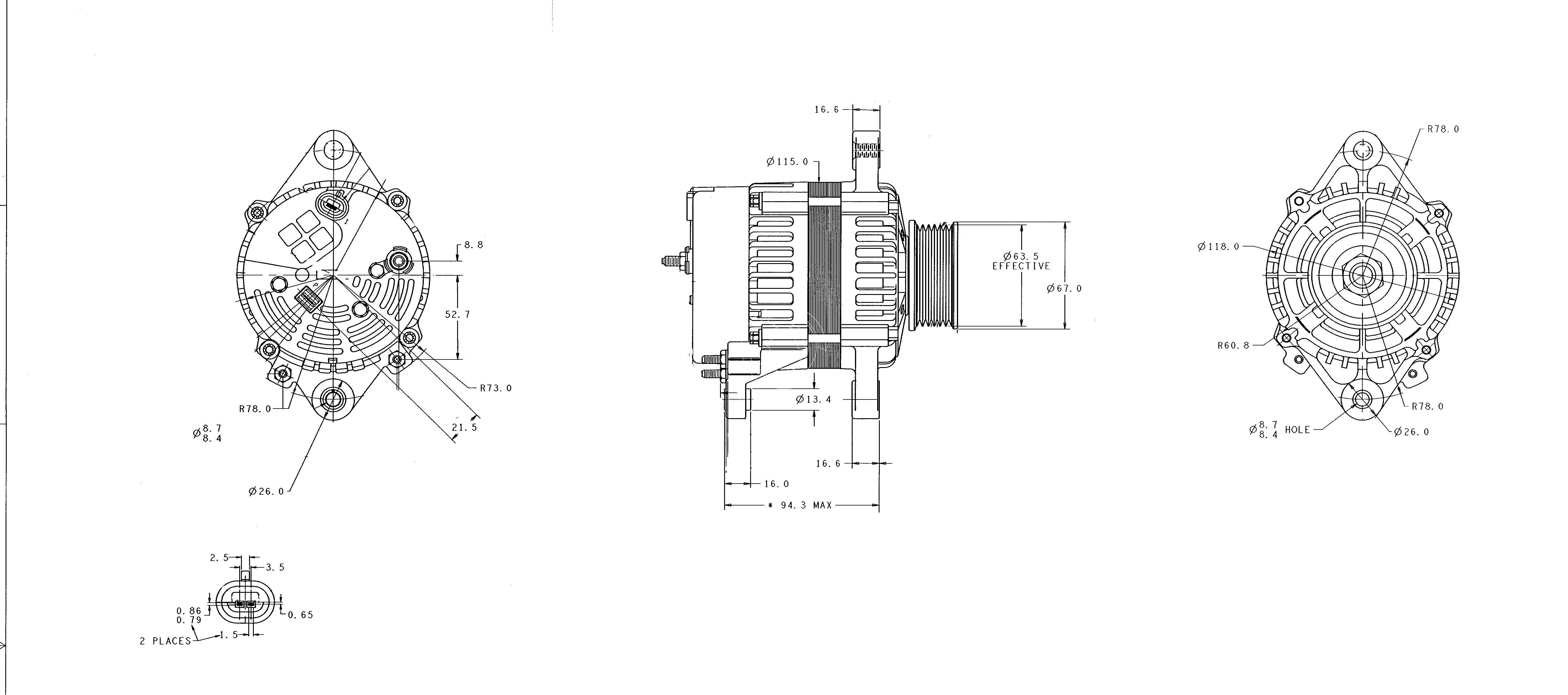 alternator delco-remy 19020609 alternator delco-remy 19020609