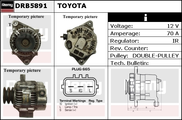 Alternator DELCO-REMY DRB5891