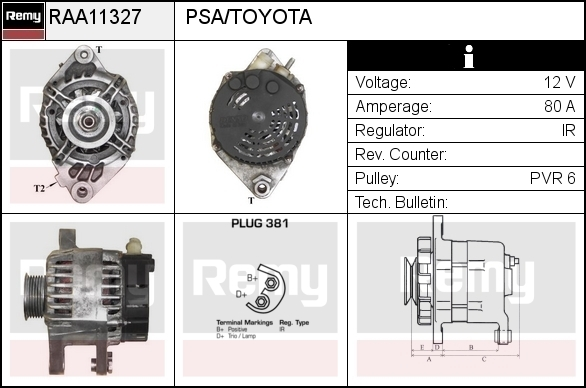 ALTERNATOR DENSO DAN1036