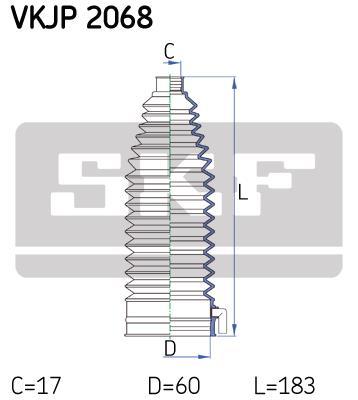 kit soufflet de direction universel skf vkjp2068. Black Bedroom Furniture Sets. Home Design Ideas