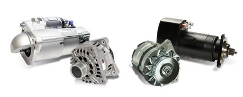 Alternators, Starters, motors and spare parts all types of vehicles
