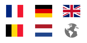 International : France, Germany, Belgium, Netherlands, United Kingdom, World